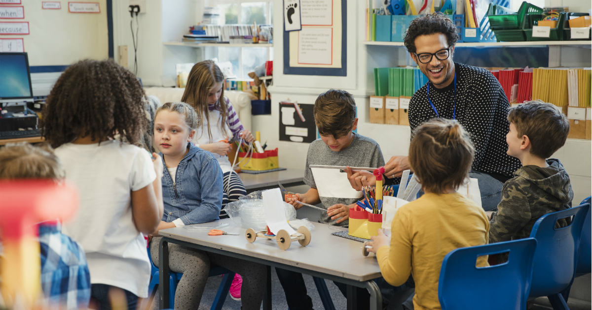 Male role models are hard to come by, especially in the classroom