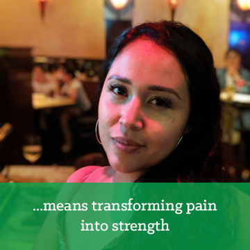 Transforming pain into strength